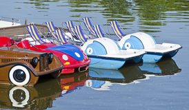 Pedal boats Stock Image