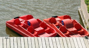 Pedal boats Royalty Free Stock Photography