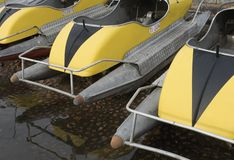 Pedal boats Royalty Free Stock Photos