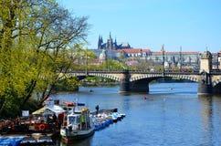 Pedal boats, Prague Stock Image