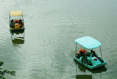 Pedal boats Stock Photos