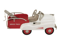 Pedal Car Tow truck. An antique tow truck pedal car Stock Photography