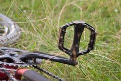 Pedal da bicicleta de montanha Fotografia de Stock