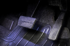 Pedal do freio e de acelerador Fotografia de Stock