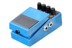 Pedal for electric guitar Stock Images
