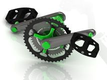 Pedal with gears and levers Royalty Free Stock Photography