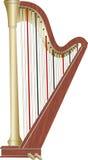 Pedal- harpa Arkivbilder