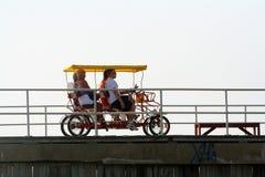 Pedal no passeio à beira mar 2 Fotos de Stock Royalty Free