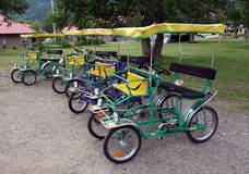 Pedal-powered buggies for hire at waterton park Stock Images