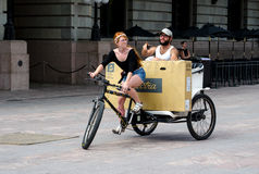 Pedal taxi in Denver Colorado Royalty Free Stock Photo