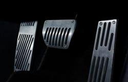 Pedale di accelerazione dell'automobile immagini stock