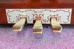 Pedales del piano del pie Fotografía de archivo libre de regalías