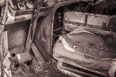 Pedali del volante abbandonati Fotografie Stock Libere da Diritti