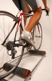 Pedaling A Sports Bycicle Royalty Free Stock Images