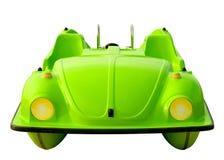 pedalo автомобиля изолированное зеленым цветом Стоковое Изображение