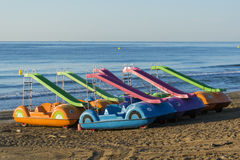 Pedalo on the beach Royalty Free Stock Photo
