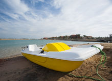 Pedalo boat on a beach Royalty Free Stock Images