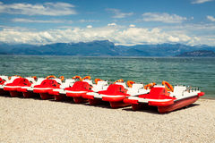 Pedalo boats Stock Photo