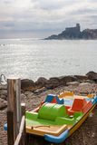 Pedalo in Lerici Stock Photography