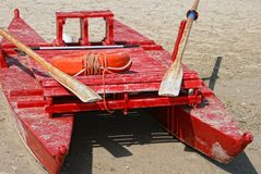 Pedalo on Sand Royalty Free Stock Photography