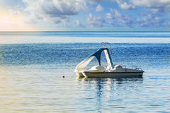 Pedalo at sea Stock Photography
