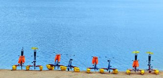 Pedalos Photographie stock