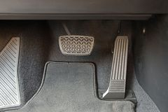Pedals of a car Stock Photography