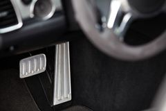 Pedals in a car. Brake and accelerator pedals in a car Stock Photography