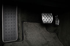 Pedals in a car Stock Image