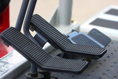 Pedals on vehicle Royalty Free Stock Photo