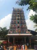 Pedamma tempel i Hyderabad, Indien Arkivbilder