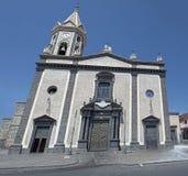 Pedara sicilian village lava church Stock Images