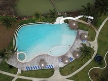 Top view of a swimming Poool Royalty Free Stock Photo