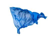 Pedazo abstracto de vuelo azul de la tela Imagenes de archivo