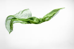 Pedazo abstracto de vuelo verde de la tela Fotos de archivo libres de regalías