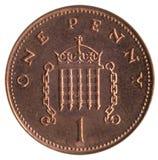 Pedazo británico 1p Imágenes de archivo libres de regalías