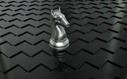 Pedazo de ajedrez del caballero Imagen de archivo