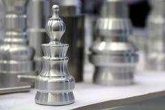 Pedazo de ajedrez del metal Fotografía de archivo libre de regalías