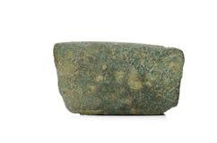 Pedazo de artefacto de cobre amarillo Fotografía de archivo libre de regalías