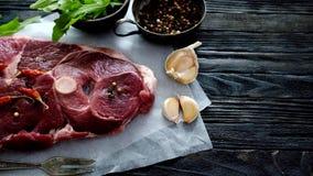 Pedazo de carne cruda del cordero metrajes