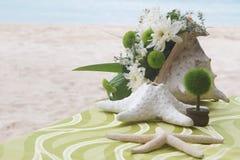 Pedazo de centro de tabla. tabla de la boda Foto de archivo libre de regalías