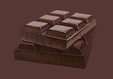 Pedazo de chocolate Foto de archivo libre de regalías