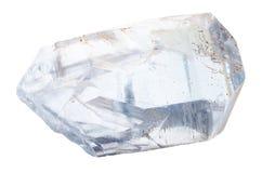 Pedazo de cristales del celestine aislados Fotos de archivo
