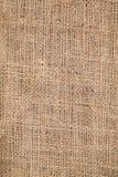 Pedazo de fondo raído de la arpillera Imágenes de archivo libres de regalías