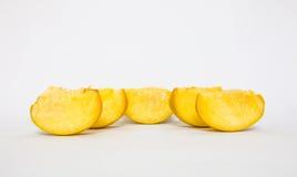 pedazo de fruta del caqui Fotos de archivo libres de regalías