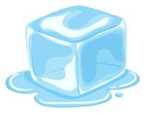 Pedazo de fusión del cubo de hielo Imagen de archivo libre de regalías