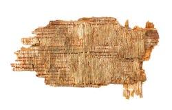 Pedazo de Grunge de madera vieja. muestra en blanco Imagen de archivo libre de regalías