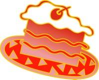 Pedazo de la torta Imagen de archivo libre de regalías