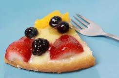 Pedazo de la torta de la fruta Fotos de archivo libres de regalías