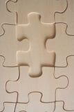 Pedazo de madera de los rompecabezas Fotos de archivo